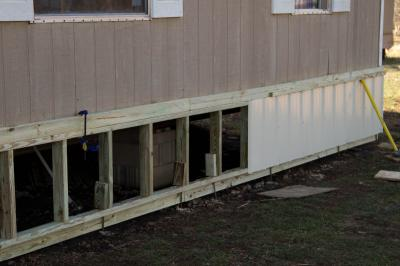 Mobile Home Skirting Installation In Texas